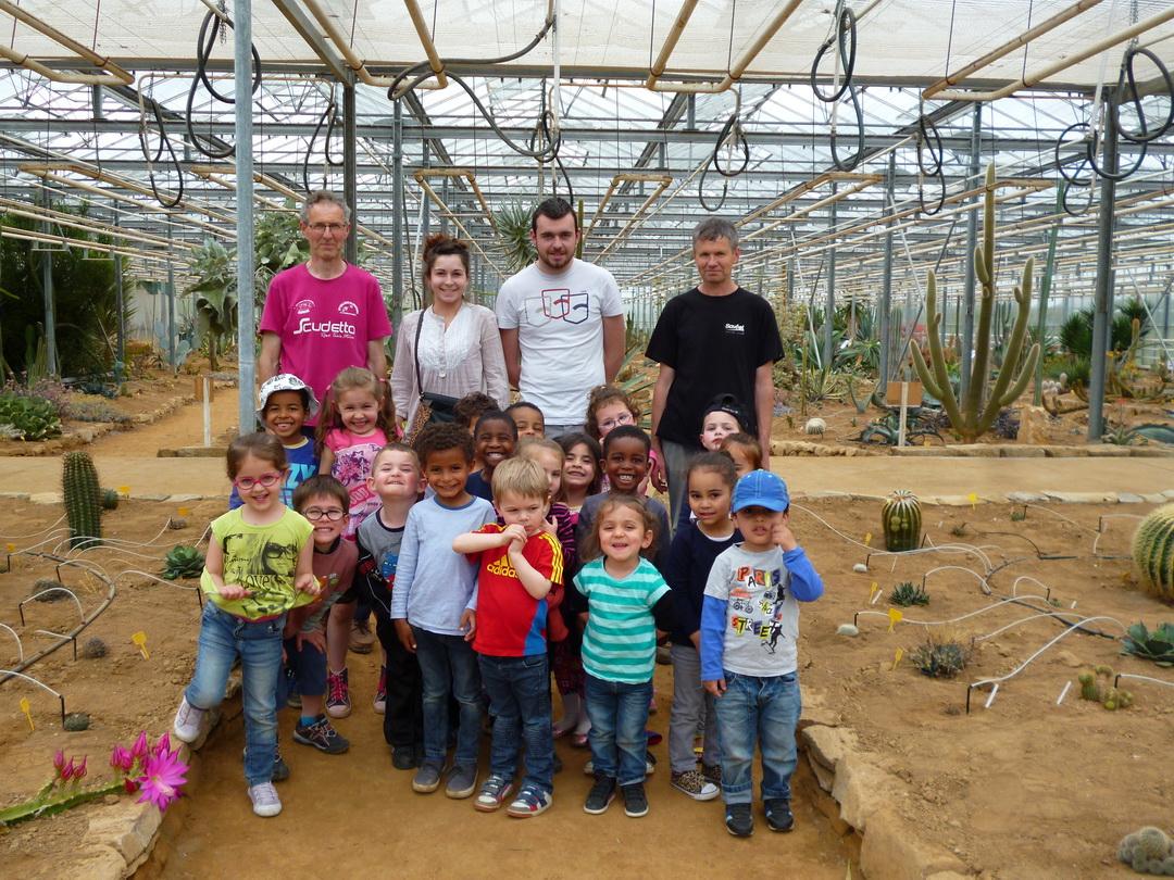 Visite de la cactuseraie des enfants du patronage laïque de Lambézellec