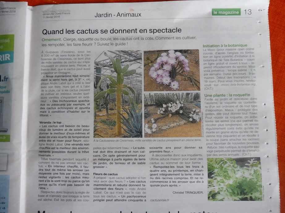Article Ouest France Magazine