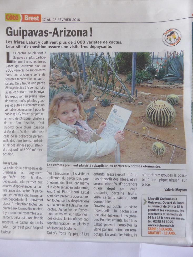 article Coté Brest du 17 au février 2016
